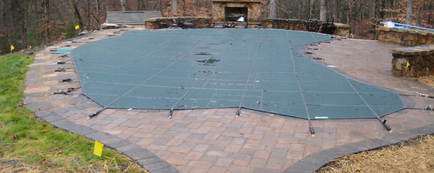 Free Form Pool Solid Safety Cover with Drain Monarch