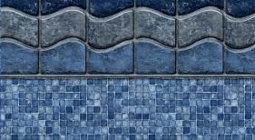 Ocean Beach with Mosaic Light Blue